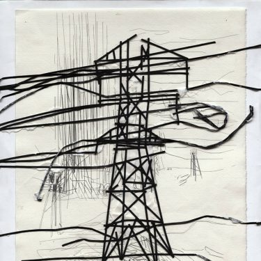 2005 Telegrafenmast paper AndreasGehlen 375x375 - Untitled / The teasing brothers IV